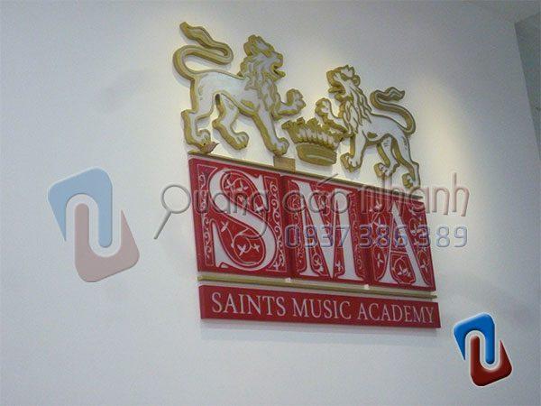 Logo SMA mica 20mm khắc CNC