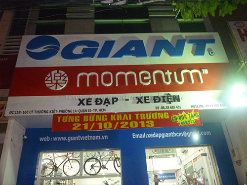 Thi công showroom xe đạp Giant