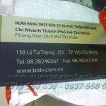 Bảng tên inox ăn mòn BIDV