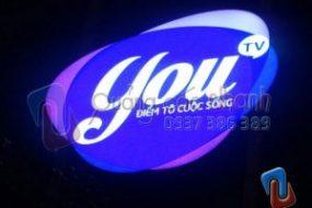 Sản xuất, lắp đặt logo You tv đèn Led Hàn Quốc