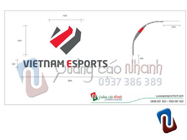Ban ve lap dat logo Vietnam Esports