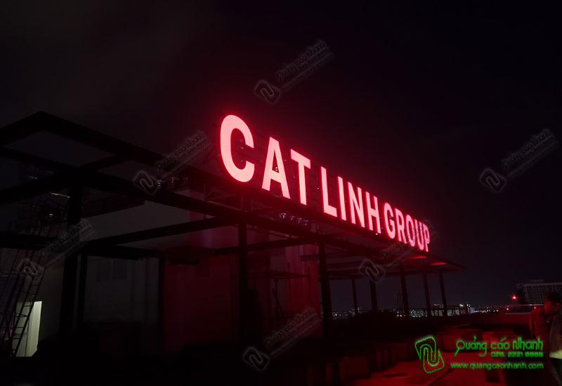 Thi công chữ inox CatLinh Group