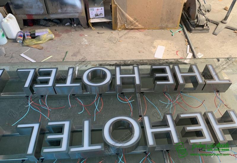 Gia công chữ inox xuất khẩu